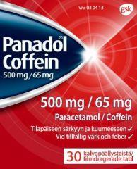 PANADOL COFFEIN 500/65 mg tabl, kalvopääll 30 fol